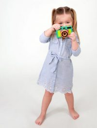 little girl with camera