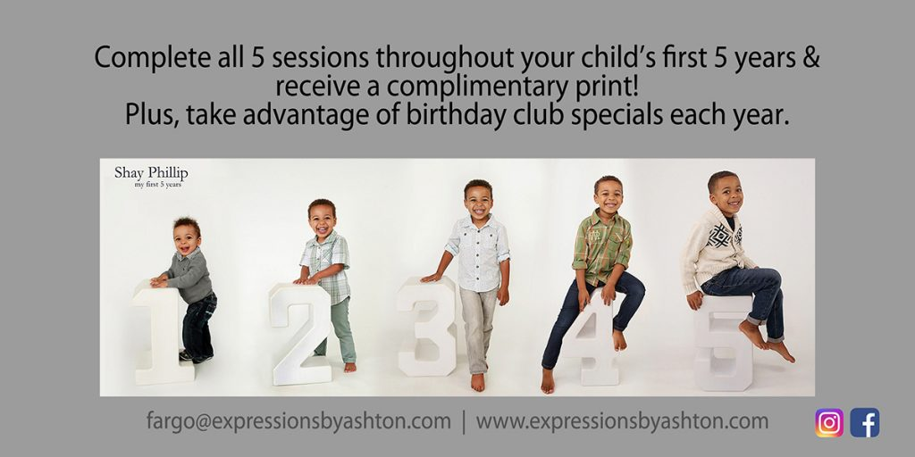 Kids Birthday Club Fargo, ND | birthday program | child photography | birthday club | one year pictures | one year portraits