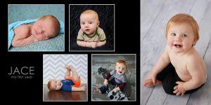 newborn to baby collage